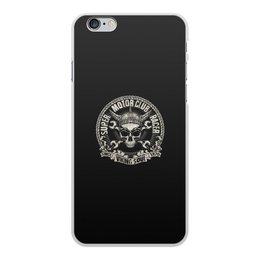 "Чехол для iPhone 6 Plus, объёмная печать ""motor club"" - череп, мото, мотоциклы, since viking soul 1876, motor club"