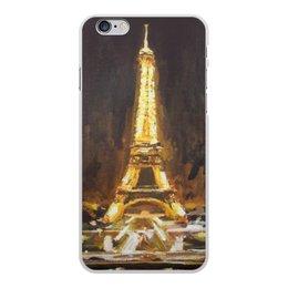 """Чехол для iPhone 6 Plus, объёмная печать """"Париж"""" - шоколад, париж, paris, эйфелева башня"""