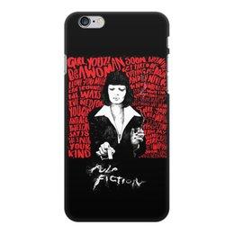 "Чехол для iPhone 6 Plus, объёмная печать ""Pulp Fiction (Ума Турман)"" - mia, культовое кино, тарантино, ума турман, криминальное чтиво"
