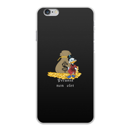 """Чехол для iPhone 6 Plus, объёмная печать """"Деньги не пахнут. Деньги. Скрудж Макдак. """" - цитаты, money, утиные истории, duck tales, скрудж макдак"""