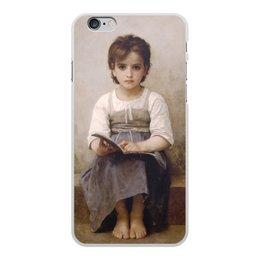 """Чехол для iPhone 6 Plus, объёмная печать """"Трудный урок (картина Вильяма Бугро)"""" - картина, академизм, живопись, школа, бугро"""