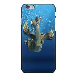 """Чехол для iPhone 6 Plus, объёмная печать """"Ледниковый период (Сид под водой)"""" - ленивец"""