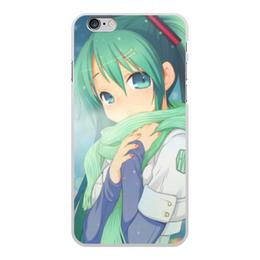 """Чехол для iPhone 6 Plus, объёмная печать """"Miku Hatsune Sush"""" - аниме, hatsune, мику, бесконечное лето, miku"""