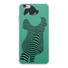 """Чехол для iPhone 6 Plus, объёмная печать """"""""Раздвоение личности"""""""" - настроение, оригинальный, хеллоуин, стройность, раздвоение личности"""