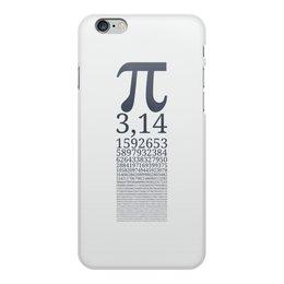"""Чехол для iPhone 6 Plus, объёмная печать """"Число Пи"""" - математика, алгебра, гик, число, пи"""