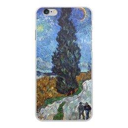 """Чехол для iPhone 6 Plus, объёмная печать """"Дорога с кипарисом и звездой (Винсент Ван Гог)"""" - картина, ван гог, живопись"""
