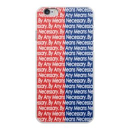 "Чехол для iPhone 6 Plus, объёмная печать ""By any means necessary"" - узор, надписи, бренд, brand, by any means necessary"