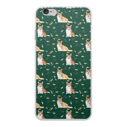 """Чехол для iPhone 6 Plus, объёмная печать """"Моя любимая собака"""" - собака, желтый, рыжая, корги, вельшкорги"""