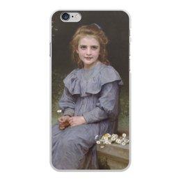 "Чехол для iPhone 6 Plus, объёмная печать ""Маргаритки (картина Вильяма Бугро)"" - цветы, картина, академизм, живопись, бугро"
