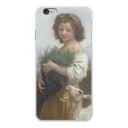 """Чехол для iPhone 6 Plus, объёмная печать """"Юная Эсмеральда (картина Вильяма Бугро)"""" - картина, академизм, живопись, бугро, крестьянка"""