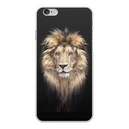 """Чехол для iPhone 6 Plus, объёмная печать """"ЛЕВ. ЖИВАЯ ПРИРОДА"""" - хищник, животные, стиль, красота, арт фэнтези"""