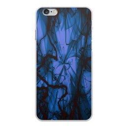 """Чехол для iPhone 6 Plus, объёмная печать """"Краски"""" - узор, космос, краски, абстракция, молния"""