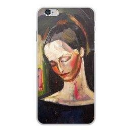 """Чехол для iPhone 6 Plus, объёмная печать """"Женский портрет (картина Ильи Машкова)"""" - картина, портрет, живопись, машков"""