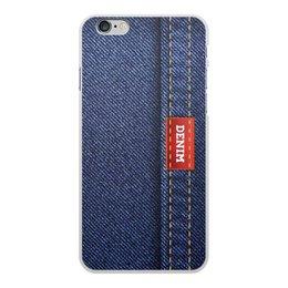 """Чехол для iPhone 6 Plus, объёмная печать """"Джинсовый арт"""" - абстракция, джинсы, ткань, jeans, denim"""
