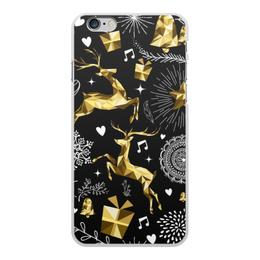 """Чехол для iPhone 6 Plus, объёмная печать """"Олени"""" - новый год, олени"""