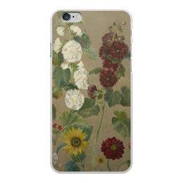 """Чехол для iPhone 6 Plus, объёмная печать """"Цветы (картина Эжена Делакруа)"""" - цветы, картина, живопись, делакруа, романтизм"""