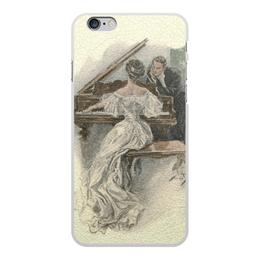 """Чехол для iPhone 6 Plus, объёмная печать """"День Святого Валентина"""" - настроение, картина, винтаж, 14фев, harrison fisher"""