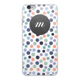 """Чехол для iPhone 6 Plus, объёмная печать """"Монограмма"""" - подарок, монограмма, имя, персональный"""