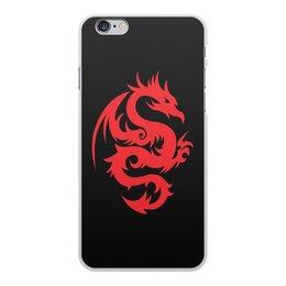 """Чехол для iPhone 6 Plus, объёмная печать """"ДРАКОНЫ ФЭНТЕЗИ. СИМВОЛИКА"""" - стиль, дракон, красота, эмблема, символ"""