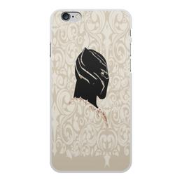 """Чехол для iPhone 6 Plus, объёмная печать """"Black Panther"""" - пантера, марвел, black panther, чёрная пантера, супергерой пантера"""