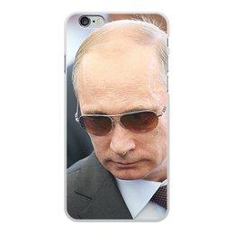 """Чехол для iPhone 6 Plus, объёмная печать """"ПУТИН. ПОЛИТИКА"""" - арт, стиль, очки, россия, президент"""