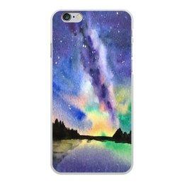 """Чехол для iPhone 6 Plus, объёмная печать """"Природа"""" - звезды, небо, краски, природа, пейзаж"""