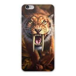 """Чехол для iPhone 6 Plus, объёмная печать """"ТИГРЫ ФЭНТЕЗИ"""" - хищник, животные, саблезубый тигр, стиль эксклюзив креатив красота яркость, арт фэнтези"""
