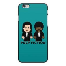 """Чехол для iPhone 6 Plus, объёмная печать """"Pulp Fiction"""" - культовое кино, тарантино, джон траволта, сэмюэл лерой джексон, криминальное чтиво"""
