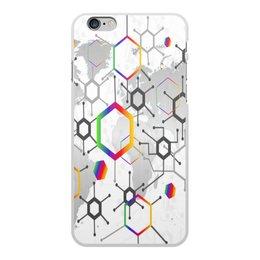 """Чехол для iPhone 6 Plus, объёмная печать """"Формула"""" - узор, текстура, формула, химия, молекулы"""