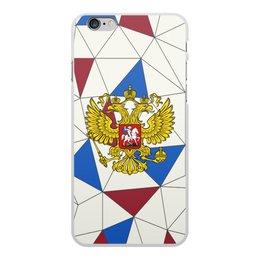 """Чехол для iPhone 6 Plus, объёмная печать """"Без названия"""" - русский, россия, герб, орел, флаг"""