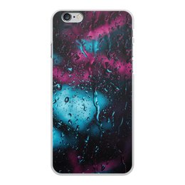 "Чехол для iPhone 6 Plus, объёмная печать ""Дождь"" - дождь, silence, drip, eyedrops, dribble"