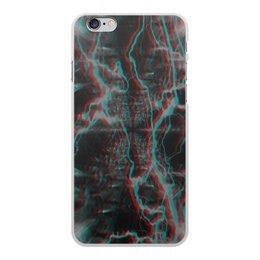 """Чехол для iPhone 6 Plus, объёмная печать """"Молния"""" - узор, космос, краски, абстракция, молния"""