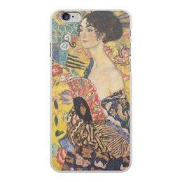 """Чехол для iPhone 6 Plus, объёмная печать """"Дама с веером (Густав Климт)"""" - картина, климт"""