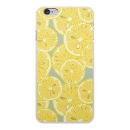 """Чехол для iPhone 6 Plus, объёмная печать """"лимоны"""" - лето, фрукты, лимон, лимоны, цитрусовые"""