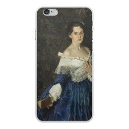 """Чехол для iPhone 6 Plus, объёмная печать """"Дама в голубом (картина Сомова)"""" - картина, портрет, живопись, модерн, сомов"""