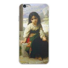 """Чехол для iPhone 6 Plus, объёмная печать """"Маленькая нищенка (картина Вильяма Бугро)"""" - картина, девочка, академизм, живопись, бугро"""