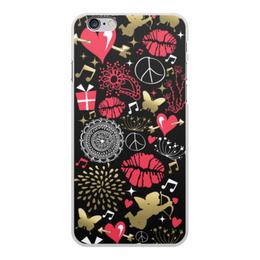 """Чехол для iPhone 6 Plus, объёмная печать """"Валентинка"""" - сердце, любовь, губы, валентинка"""