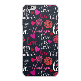 """Чехол для iPhone 6 Plus, объёмная печать """"День Св. Валентина"""" - любовь, сердца, валентинка, день св валентина"""