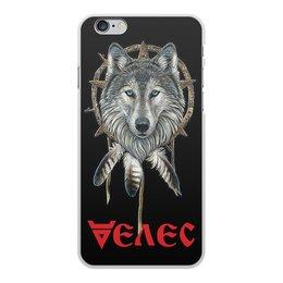 """Чехол для iPhone 6 Plus, объёмная печать """"ВЕЛЕС. СЛАВЯНСКИЕ БОГИ"""" - стиль, волк, тотем, славянская мифология, арт фэнтези"""