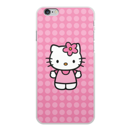 """Чехол для iPhone 6 Plus, объёмная печать """"Kitty в горошек"""" - мультик, hello kitty, мультфильм, для детей, привет китти"""