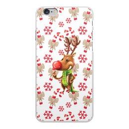 """Чехол для iPhone 6 Plus, объёмная печать """"новый год"""" - новый год, зима, подарки, снежинки, олень"""