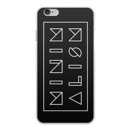 """Чехол для iPhone 6 Plus, объёмная печать """"Минимализм"""" - надпись, текст, геометрия, буквы, минимализм"""