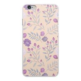 """Чехол для iPhone 6 Plus, объёмная печать """"цветы"""" - лето, цветы, узор, природа, цветочки"""
