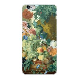 "Чехол для iPhone 6 Plus, объёмная печать ""Фрукты и цветы (Ян ван Хёйсум)"" - цветы, картина, живопись, натюрморт, ян ван хёйсум"
