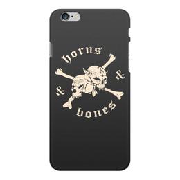 """Чехол для iPhone 6 Plus, объёмная печать """"""""Рога и кости"""""""" - черепа, кости"""
