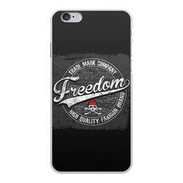 "Чехол для iPhone 6 Plus, объёмная печать ""Freedom"" - череп, логотип, freedom, компания, trade mark company"