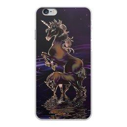"""Чехол для iPhone 6 Plus, объёмная печать """"ЕДИНОРОГ"""" - стиль, красота, вода, фэнтези, звездное небо"""