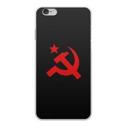 """Чехол для iPhone 6 Plus, объёмная печать """"Советский Союз"""" - ссср, русский, россия, советский союз, серп и молот"""