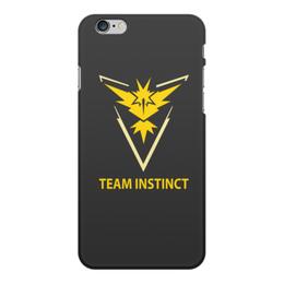 """Чехол для iPhone 6 Plus, объёмная печать """"Team Instinct"""" - знак, pokemon, покемон, instinct, инстинкт"""