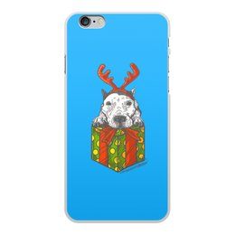 """Чехол для iPhone 6 Plus, объёмная печать """"новый год"""" - новый год, зима, собака, подарок, год собаки"""